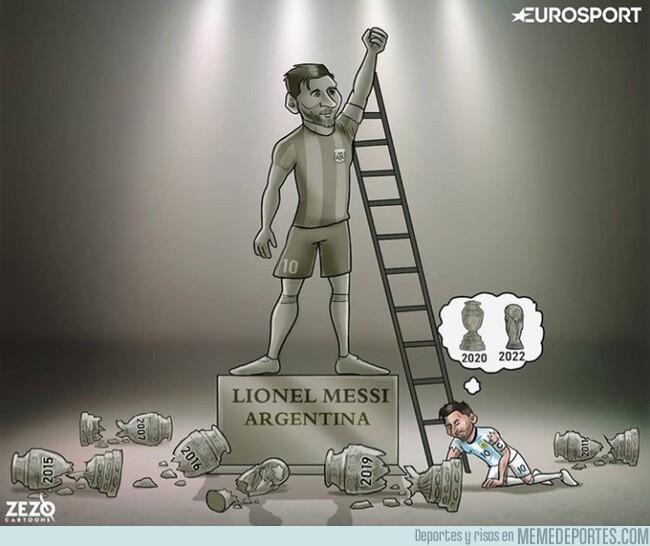 1080306 - Messi tendrá que consagrarse con su selección en otra ocasión, por @zezocartoons