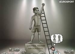 Enlace a Messi tendrá que consagrarse con su selección en otra ocasión, por @zezocartoons