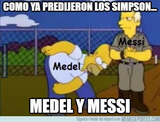 1080360 - Los Simpson ya predijeron lo de Medel y Messi