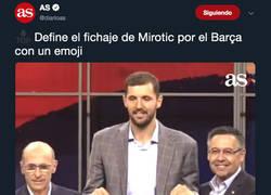 Enlace a El Diario AS pide que definan con un emoji el fichaje de Mirotic por el Barça y los madridistas responden sin piedad