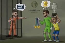 Enlace a Así se resume el desenlace de la Copa América 2019, por @zezocartoons