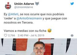 Enlace a ¡Ojo que Griezmann podría acabar en el Unión Adarve de 2a B!