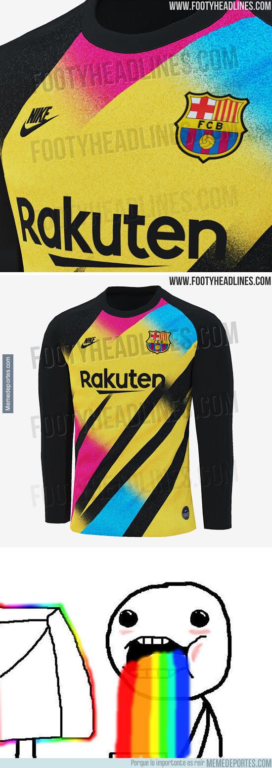 1080731 - Se filtra la tercera equipación de portero del Barça con hasta 4 colores diferentes y se ve espectacular