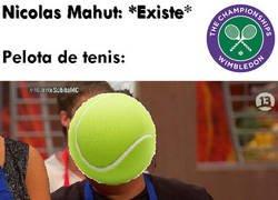 Enlace a Extraña obsesión de la pelota de tenis con el cuerpo de Nicolas Mahut