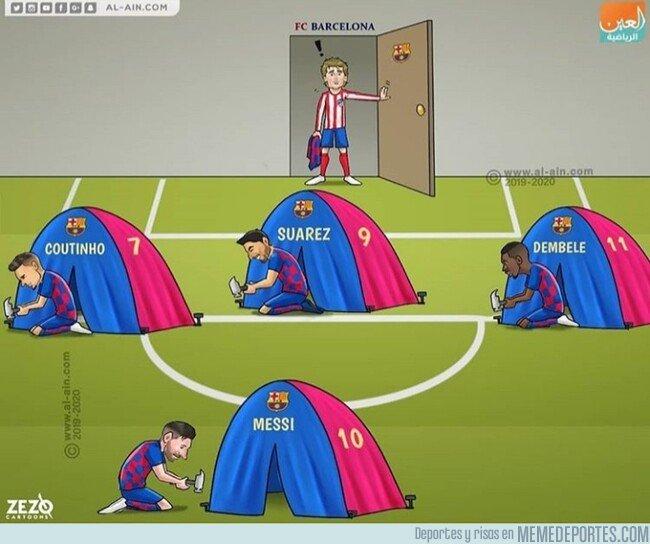 1081029 - ¿Con qué formación jugará el Barça esta temporada? Por @zezocartoons