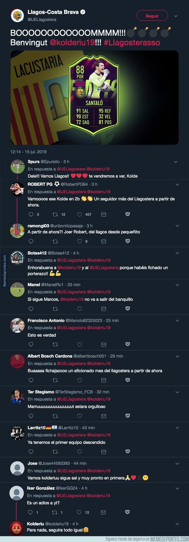 1081141 - El Llagostera sorprende a todo el mundo y ficha a este famoso 'youtuber' jugador de FIFA 19 como portero para su equipo en 2ªB
