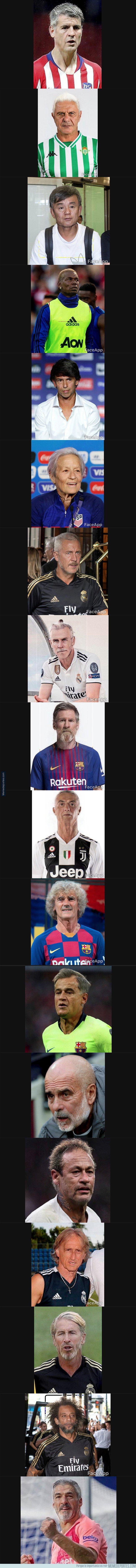 1081204 - Así serán las personalidades del fútbol cuando sean mayores transformadas por FaceApp