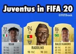 Enlace a La Juventus en el FIFA20, sin licencia, por @FUTDonk