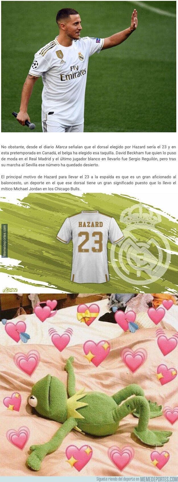1081213 - Se filtra finalmente cual será el dorsal que usará Eden Hazard en el Real Madrid