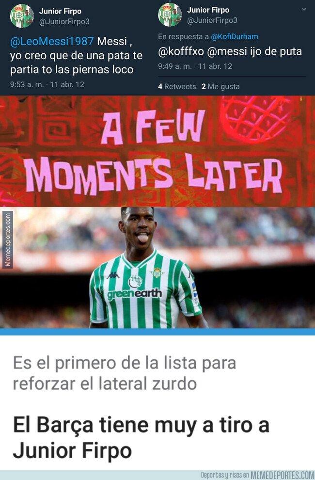 1081274 - ¿Qué pasará con los tweets de Junior Firpo si finalmente ficha por el Barça?