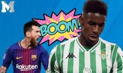 Enlace a ¿Qué pasará con los tweets de Junior Firpo si finalmente ficha por el Barça?
