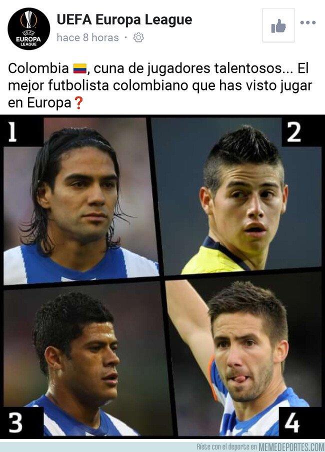 1081296 - La página oficial de la Europa league le da a Hulk y a Moutinho la nacionalidad colombiana