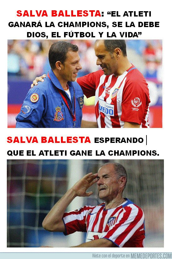 1081304 - Salva Ballesta esperando que el Atleti gane la Champions