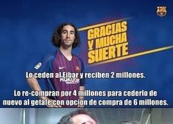 Enlace a El Barcelona es tan raro que son ellos los que pagan cuando alguien les ficha un jugador