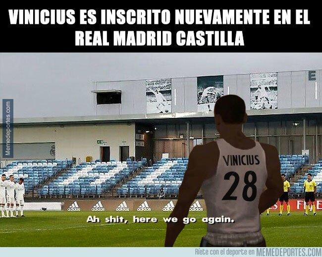 1081441 - Vinicius es inscrito nuevamente en el Real Madrid Castilla