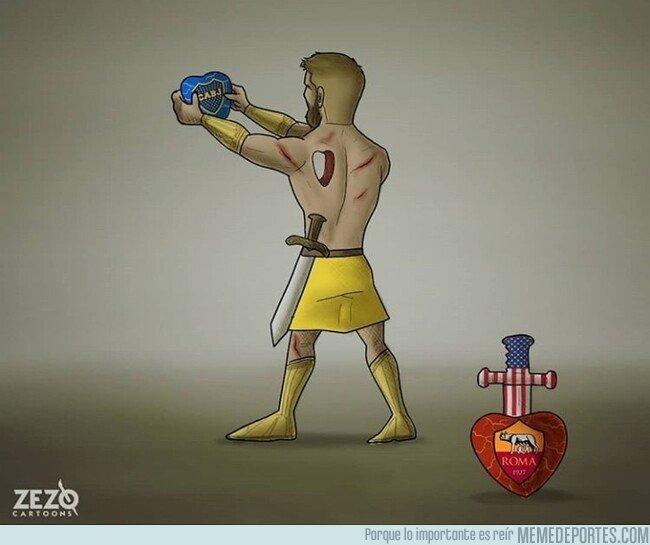 1081450 - De Rossi tiene un nuevo corazón al que defender, por @zezocartoons