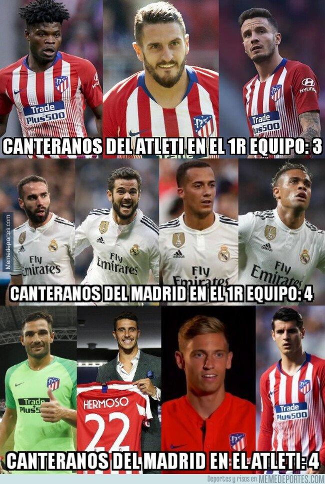 1081535 - El curioso reparto de canteranos entre Madrid y Atlético