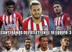 Enlace a El curioso reparto de canteranos entre Madrid y Atlético