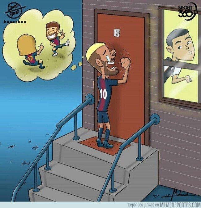 1081613 - Neymar busca nuevas salidas, por @koortoon