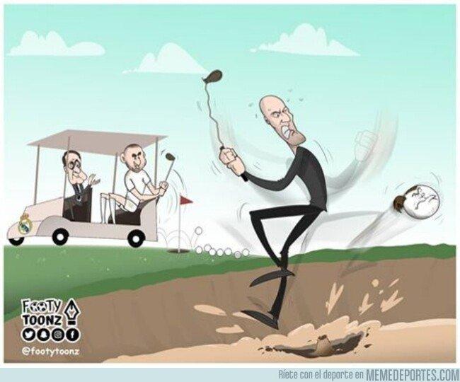1081688 - Zidane manda a Bale a otro hoyo, por @footytoonz