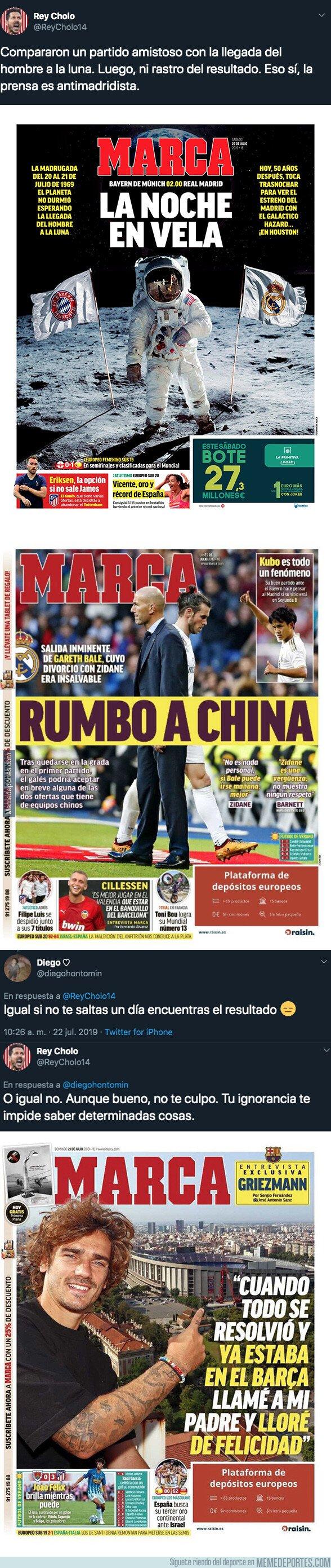 1081710 - El doble rasero increíble del diario MARCA antes y después de un partido del Real Madrid
