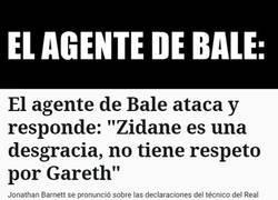 Enlace a Zidane 'irrespetando' a Bale, Malo. Bale irrespetando al club, no me acuerdo de eso
