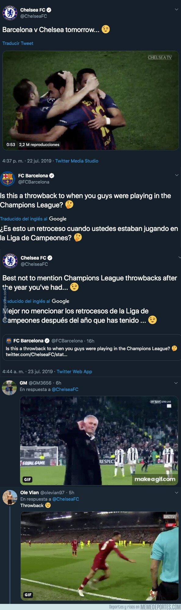 1081770 - Guerra descomunal de ZASCAS entre Chelsea y Barça por su participación en la Champions League