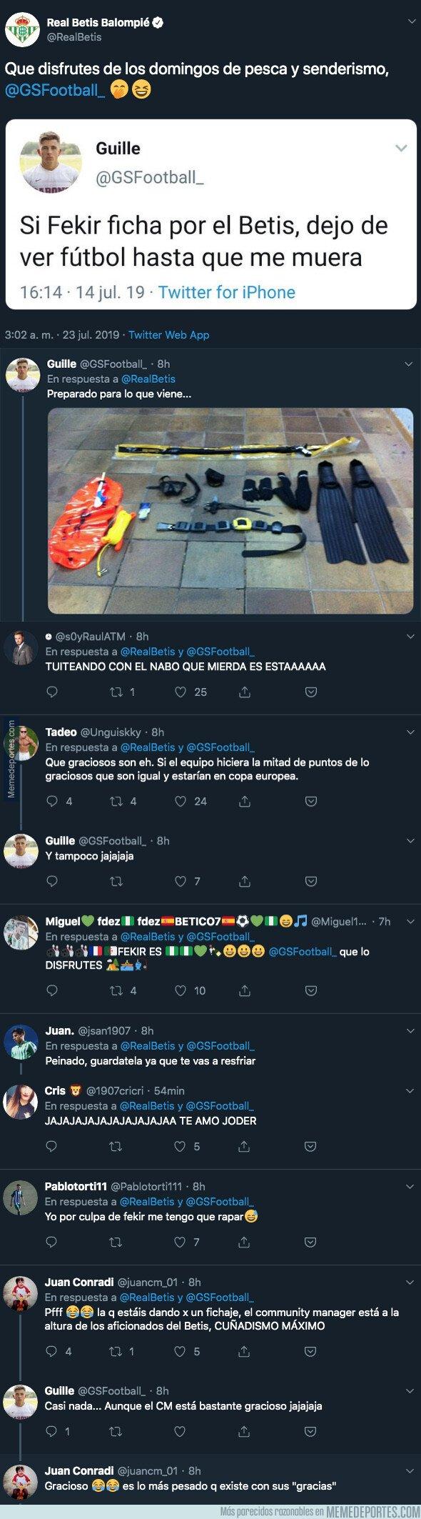 1081780 - El Real Betis sorprende fichando a Fekir y rescata un tuit antiguo de un tuitero que ya no volverá a ver más fútbol