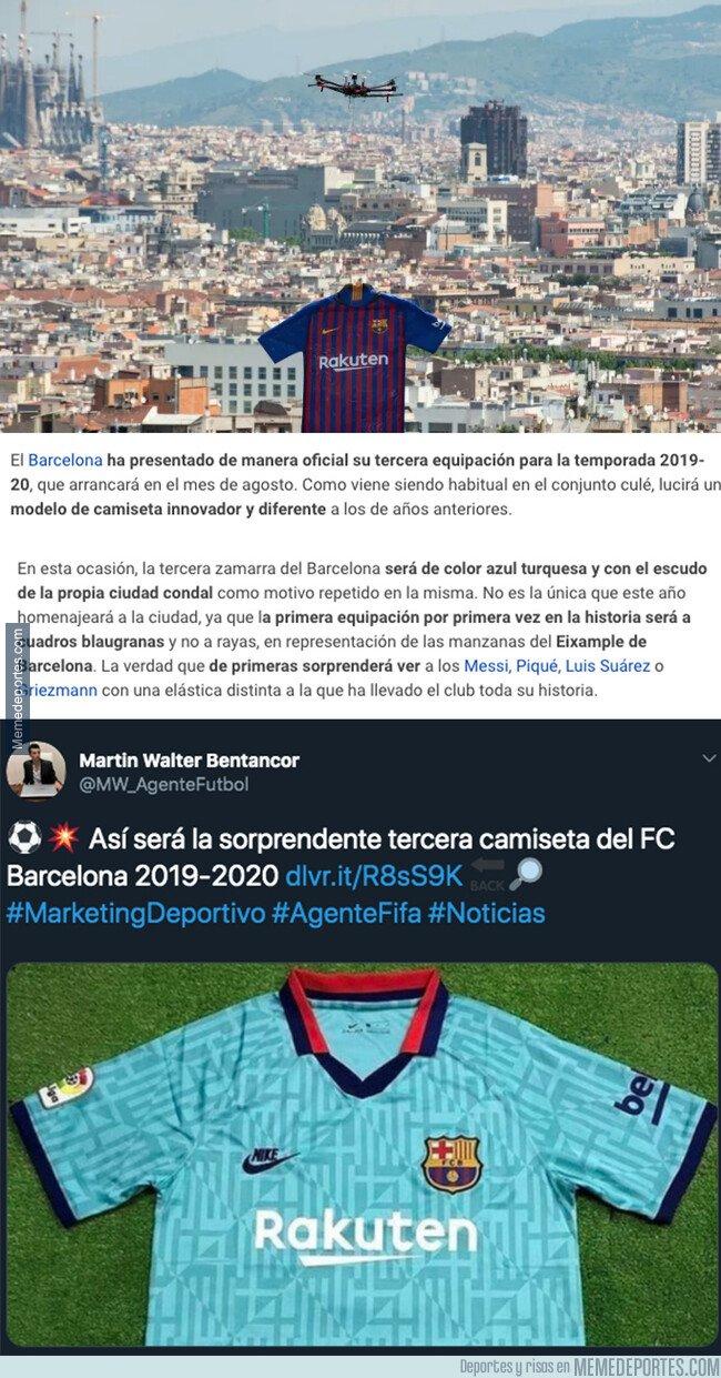 1081813 - El Barça sorprende y así será su novedosa tercera equipación