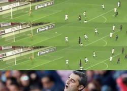 Enlace a El golazo de Rakitic fue orgásmico para Valverde