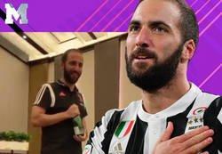 Enlace a Higuaín sorprende a todo el vestuario de la Juventus y se lanza a cantar 'Despacito'
