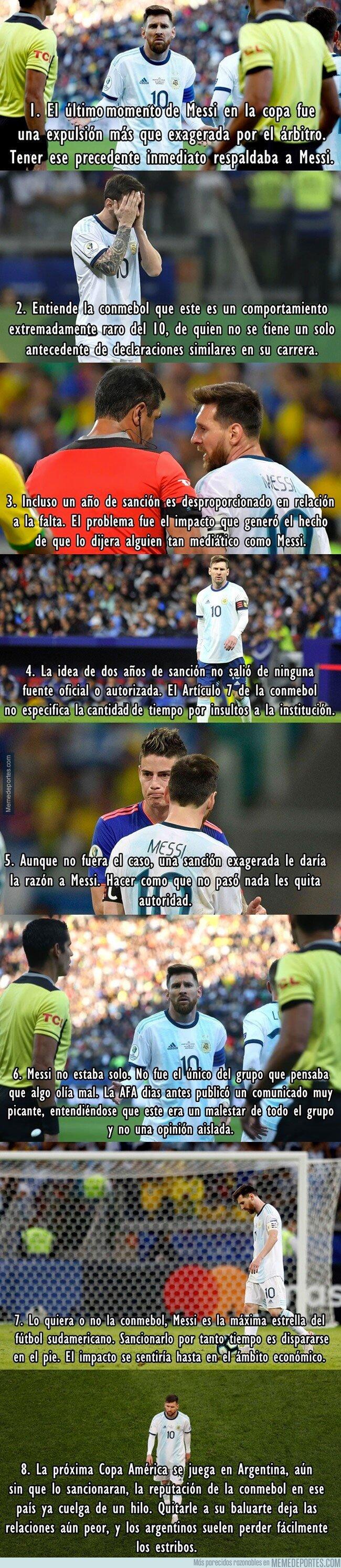 1081943 - 8 razones por las que la Conmebol no se quemó mucho con Messi
