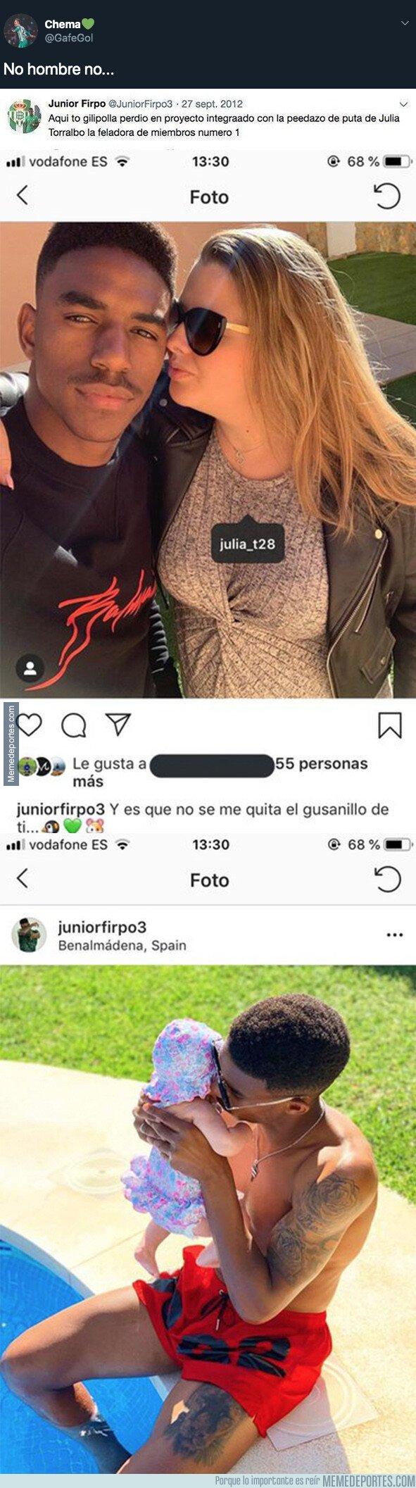 1081946 - El más que polémico mensaje de Junior Firpo publicó sobre su actual novia en 2012