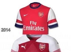 Enlace a En menos de 5 años el Arsenal ha tenido 3 proveedores distintos. ¿Quién lo hace mejor?