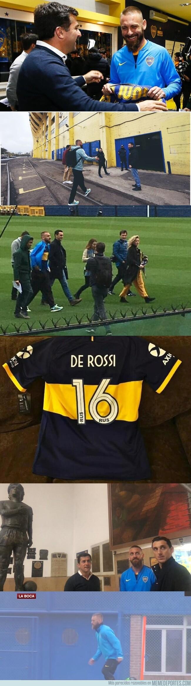 1082037 - De Rossi ya está en Boca. Empezó su etapa en Sudamérica