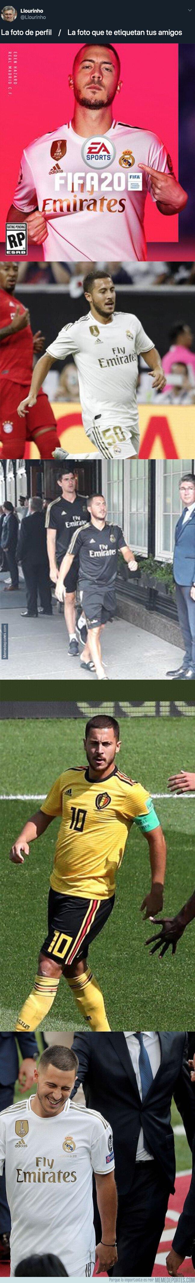 1082057 - Escándalo por el excesivo uso de Photoshop en el cuerpo de Hazard en la portada del FIFA 20 comparado con la realidad