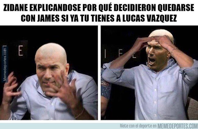 1082268 - Concordamos todos que con Zidane: se acabó la carrera de James, ¿No?