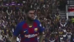Enlace a El PES 2020 ha incluído la original celebración de Umtiti en su último videojuego