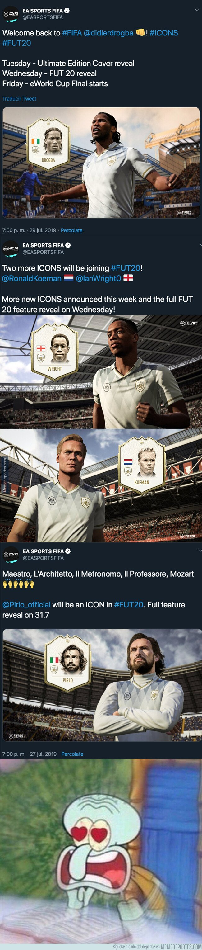 1082342 - Las 4 leyendas confirmadas que tendrán su carta Icono en el FUT de FIFA 20