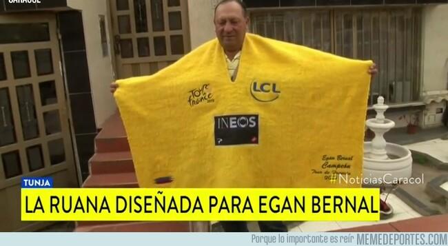 1082365 - Randomdeportes presenta... Una ruana como el maillot amarillo del Tour para Egan Bernal