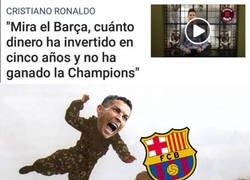 Enlace a El palp de Cristiano al Barça sin venir a cuento