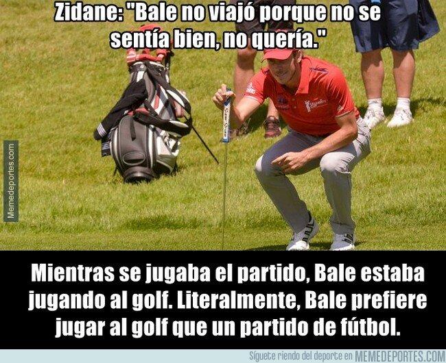 1082397 - Bale no viajó porque tenía que jugar al golf
