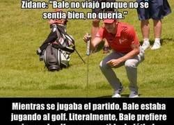 Enlace a Bale no viajó porque tenía que jugar al golf