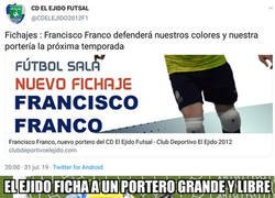 Enlace a Francisco Franco, nuevo portero de El Ejido Futsal