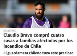 Enlace a Claudio Bravo tiene uno de los corazones más grandes del mundo del fútbol
