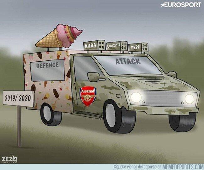 1082681 - Al Arsenal le está quedando un equipo algo descompensado, por @zezocartoons