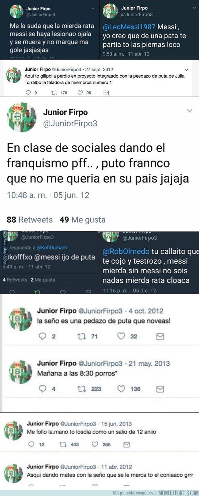 1082694 - Los mejores tuits del adolescente Junior Firpo, un digno competidor de Ceballos
