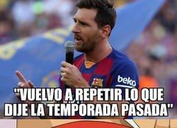 Enlace a Messi corrió el riesgo de volver a quedar retratado