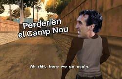 Enlace a 12 visitas al Camp Nou, 12 derrotas para Unai Emery