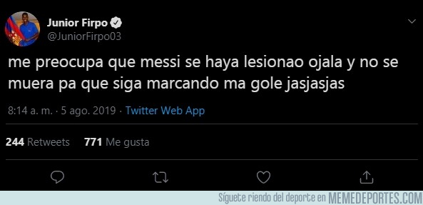 1082782 - Firpo ya se ha pronunciado sobre la lesión de Messi